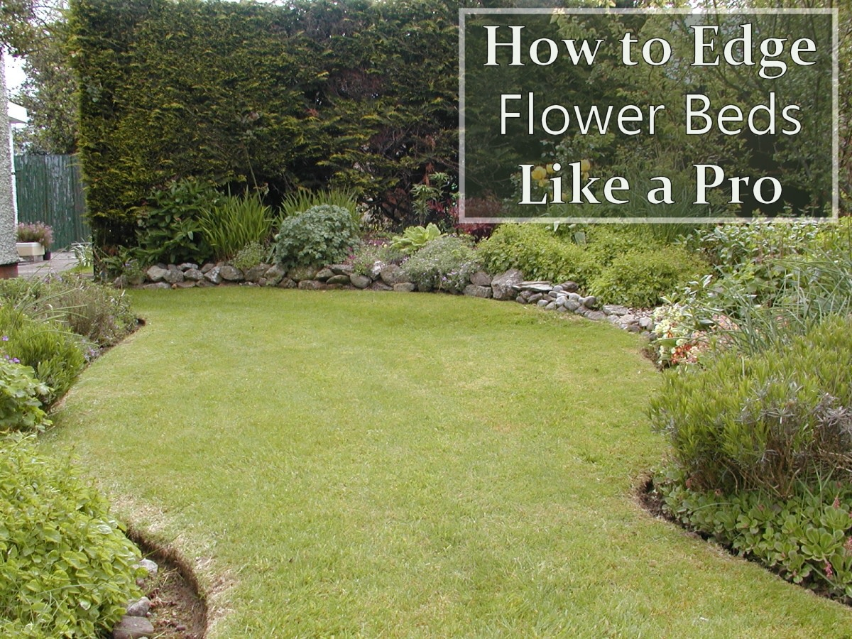 How to Edge  a Flower Bed and Produce Clean Curves