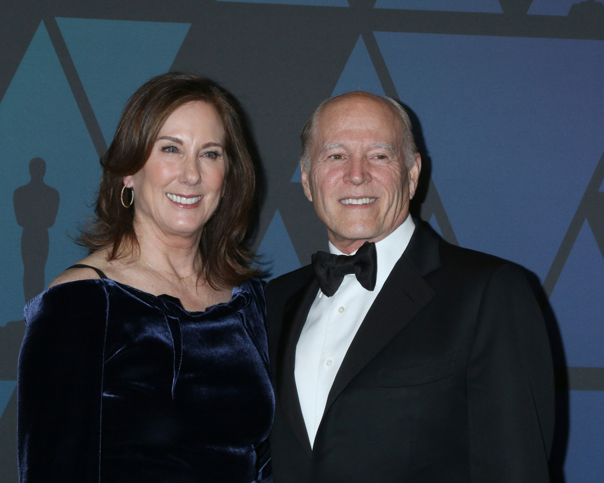 Kathleen Kennedy and Frank Marshall at the 10th Annual Governors Awards at the Ray Dolby Ballroom on November 18, 2018, in Los Angeles, CA.