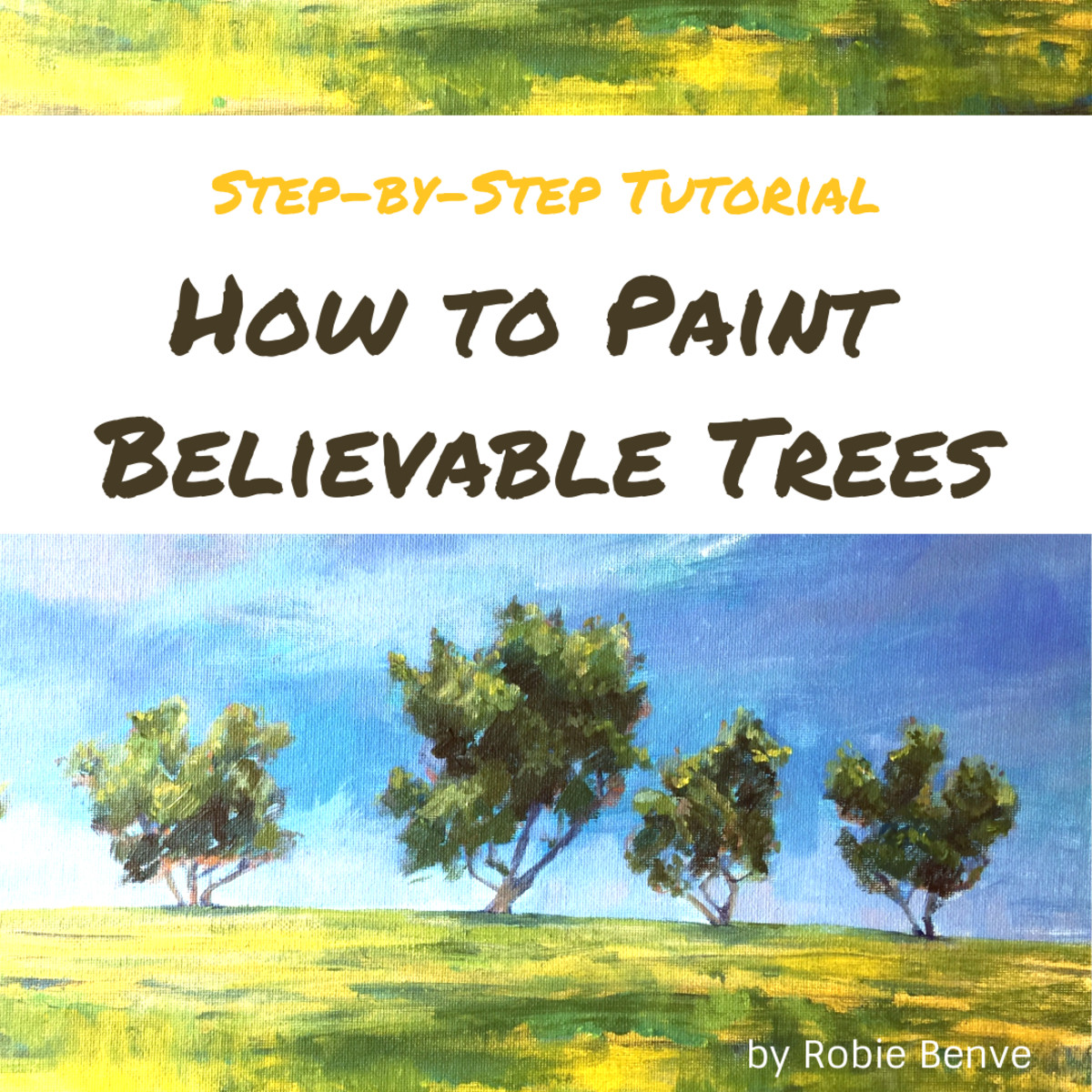 Learn the 10 steps to painting trees, starting with the most important feature of the tree, its contour, and ending with the details. Robie Benve shares her ten secrets to painting trees that are believable and that present character and dimension.