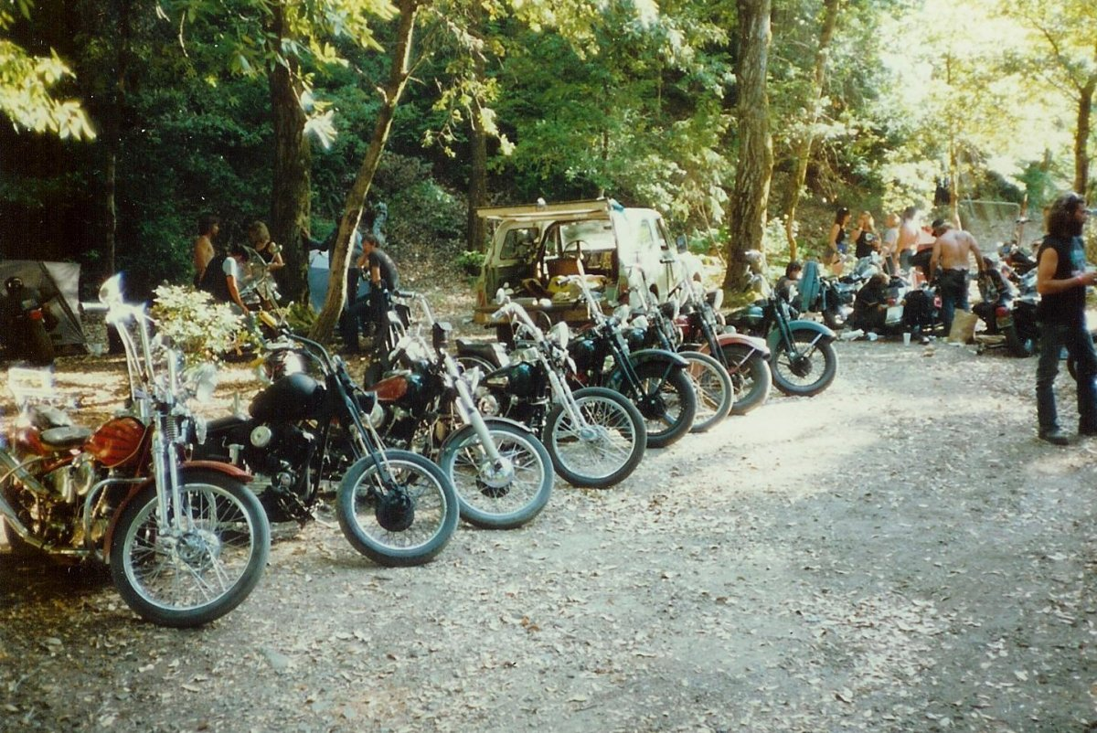 Knuckleheads at the Redwood Run, most from the LA area