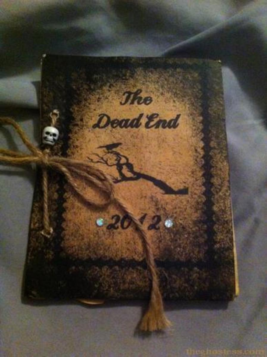 How to Make Aged Halloween Party Invitation Books