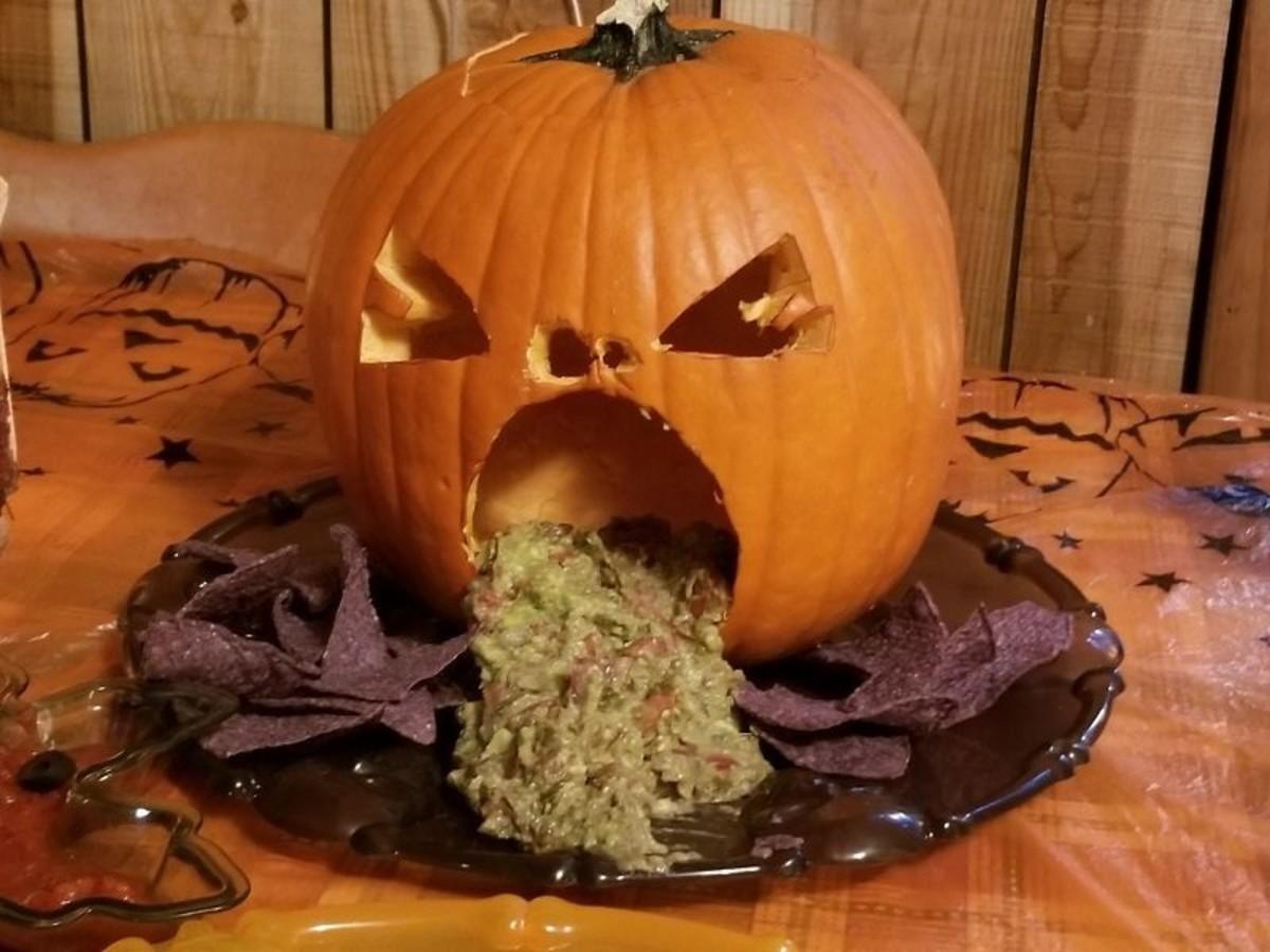 Gross! A puking pumpkin!