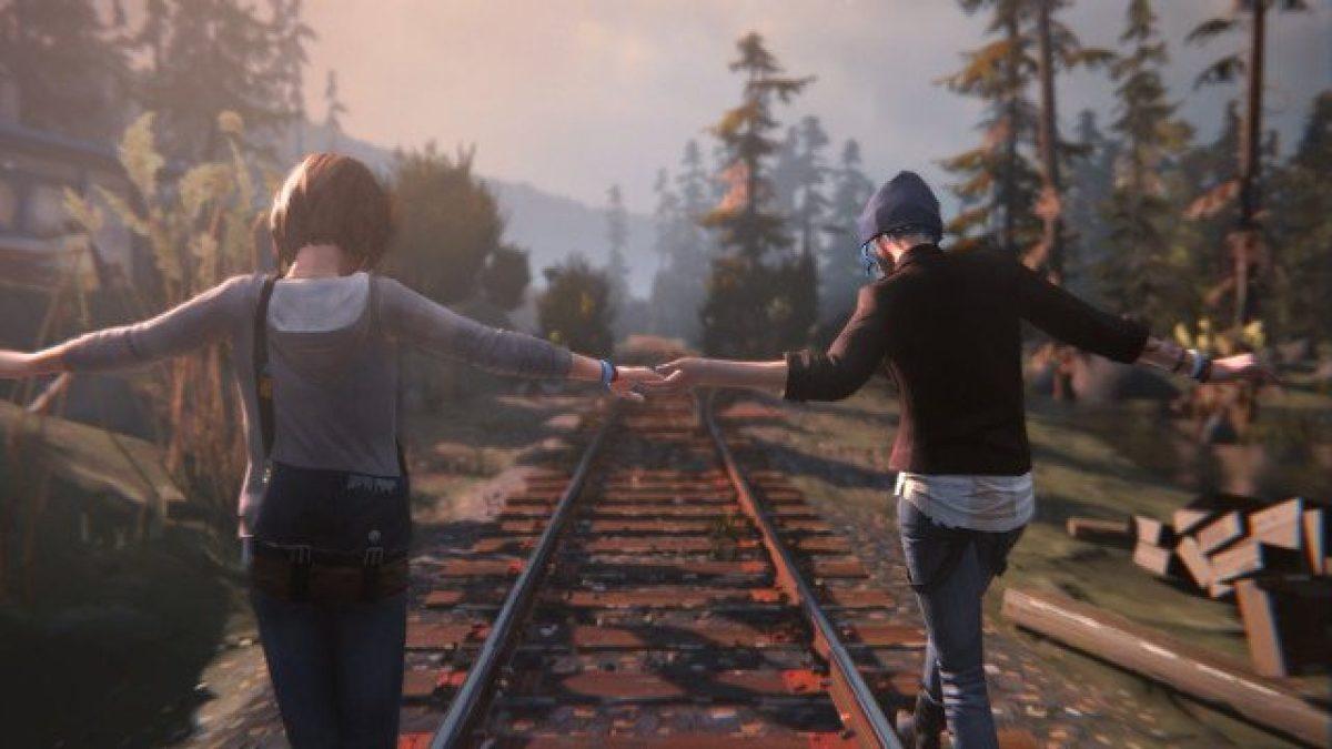 Max and Chloe walk hand-in-hand.