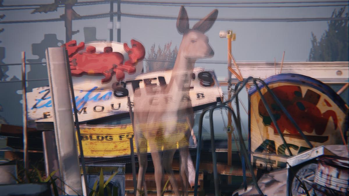 A deer spirit guides Max.