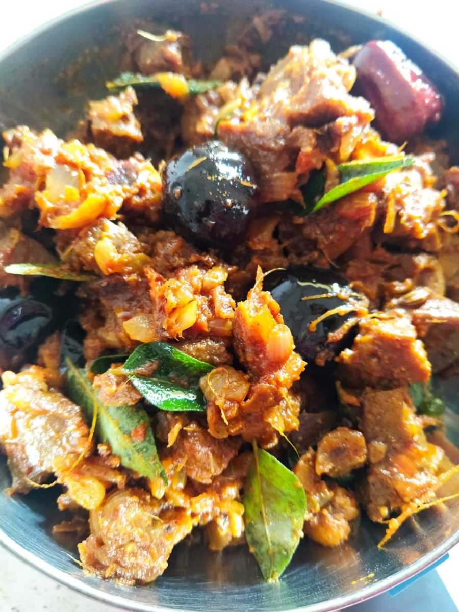 Spicy and tasty mutton liver fry