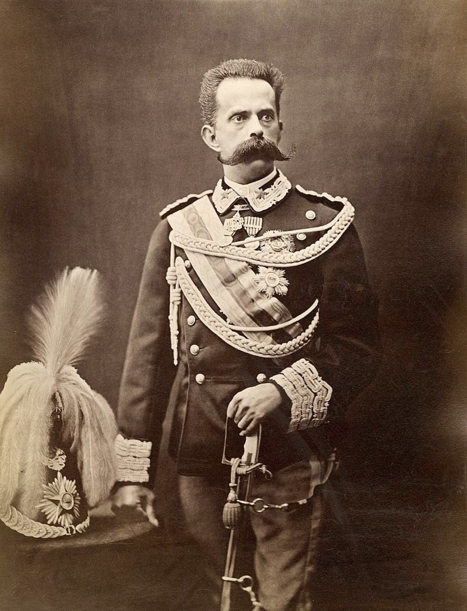 King Umberto I. That moustache could become an issue if dealing with an extra cheese pizza.