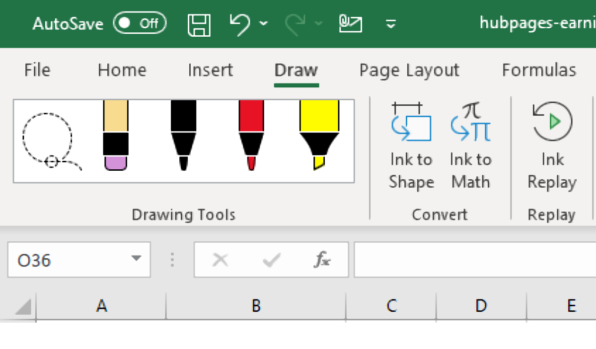 How to Add the Draw Tab in MS Excel