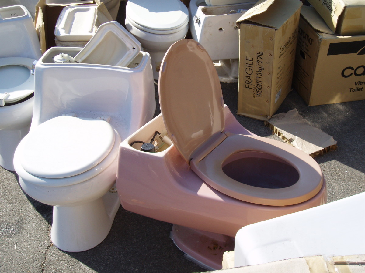 Waterwise Consulting used to recycle all these old toilets, as soon as customers brought them in—usually a week or so after they picked up their new ones at the distribution event.