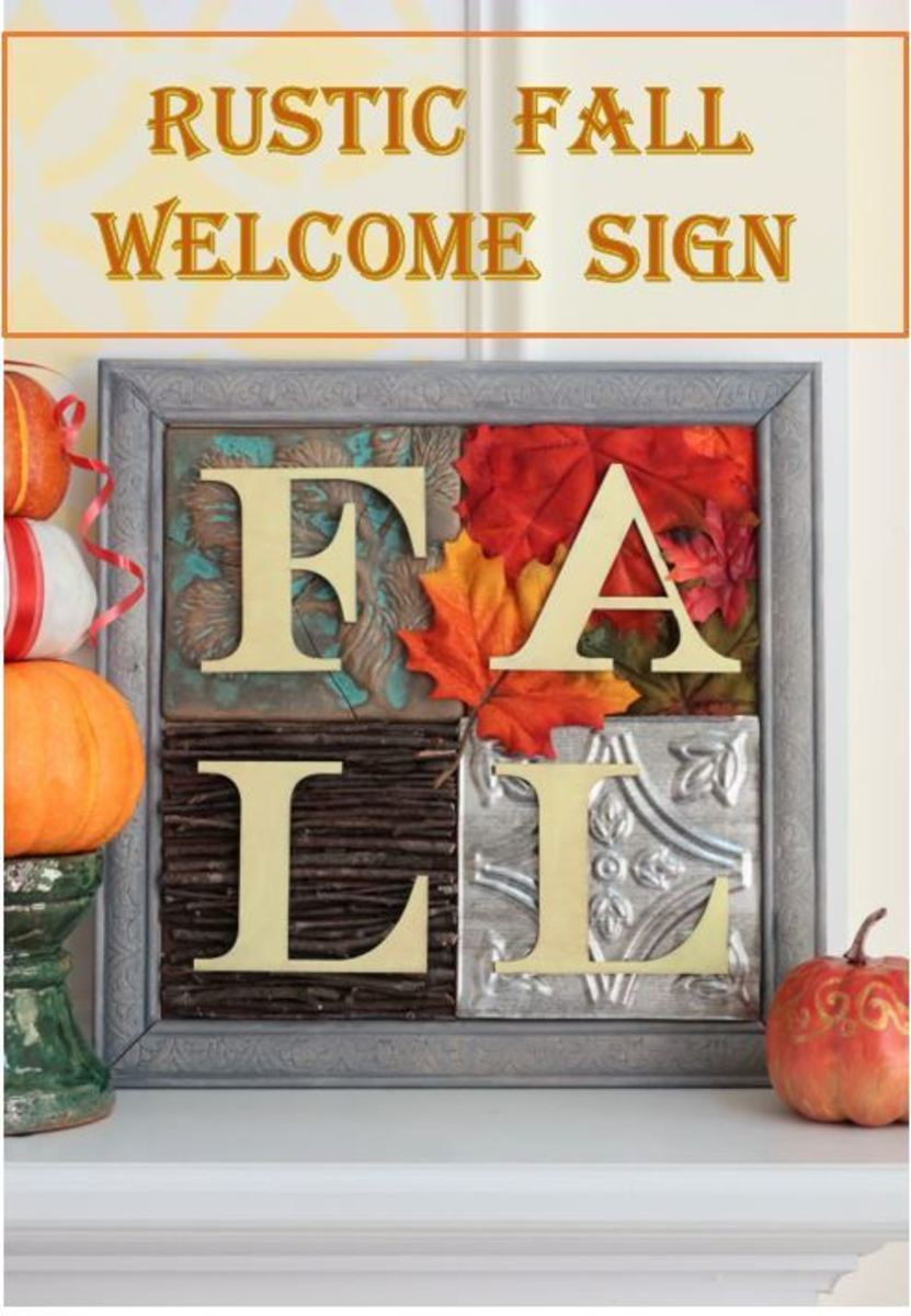 How to Make a Rustic Fall Welcome Sign