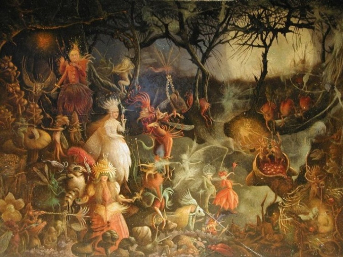 This image is an artistic depiction of an ancient Samhain celebration.