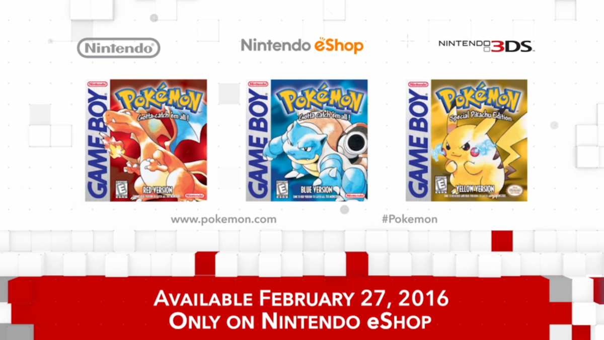 """The first generation of """"Pokémon"""" games were so popular they were re-released on the 3DS as part of the franchises 20th anniversary."""