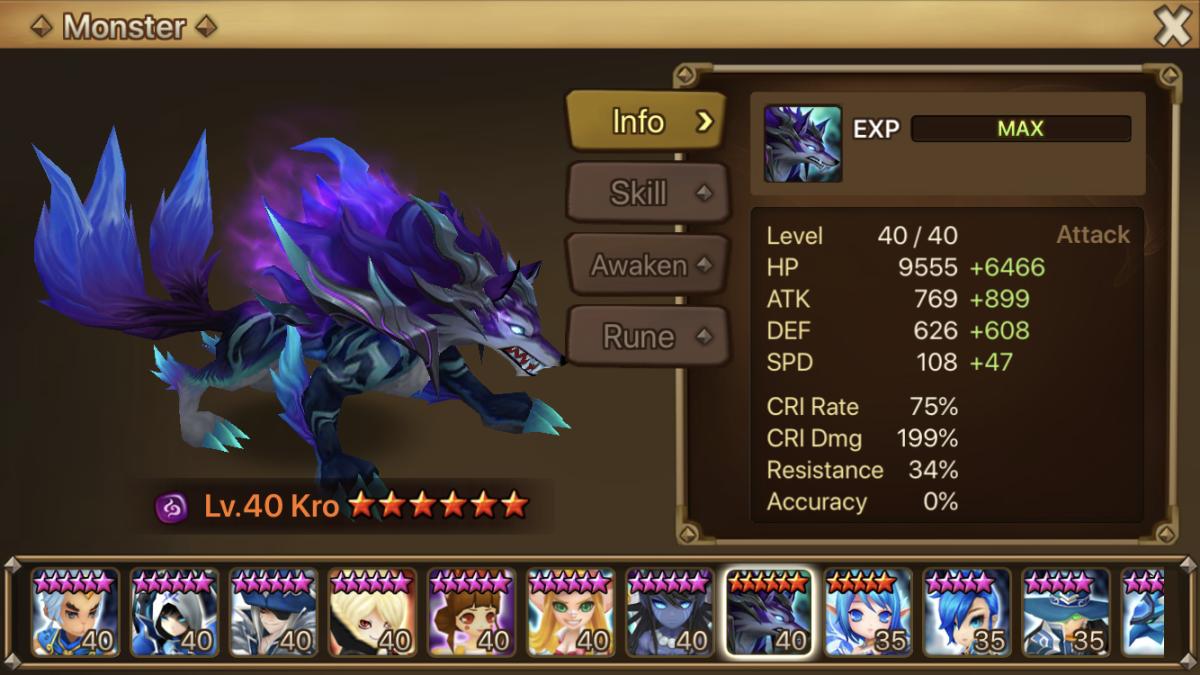 Kro-Dark Inugami: Best 2A Monster for Raids