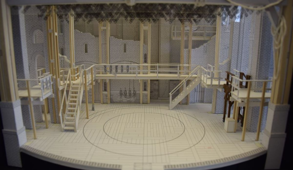 Here is a model of Hamilton's stage. The rotating part in the center allows for some creative choreography.