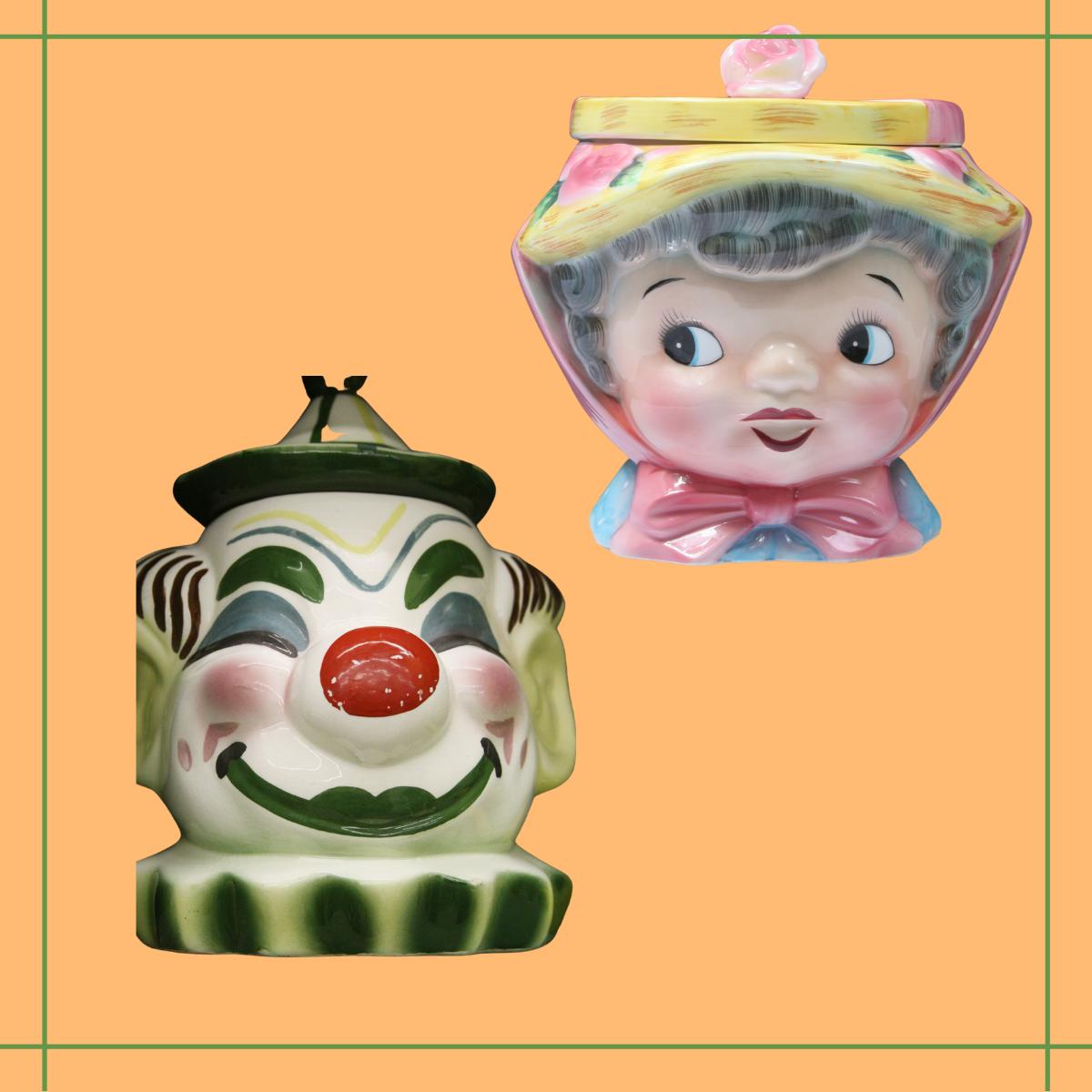 Vintage Cookie Jar Heads