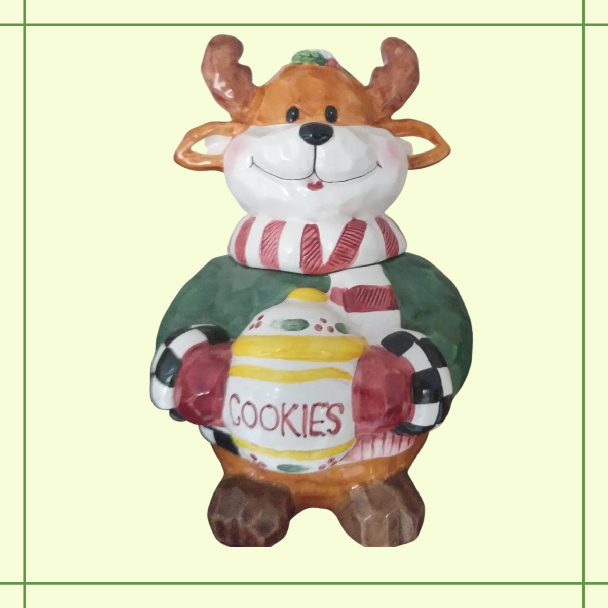 Christmas Cookie Jar—ChAracter Wearing a Sweater