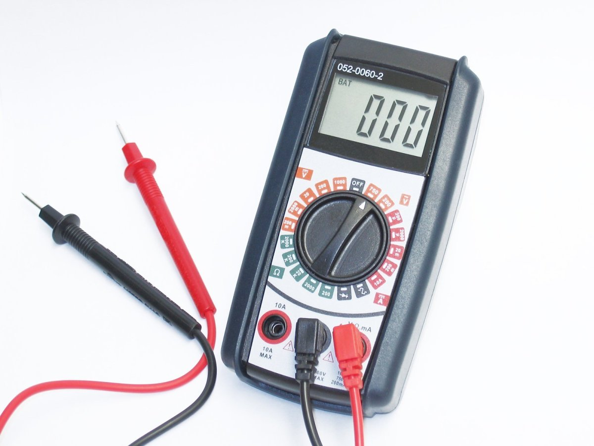 A typical low-cost multimeter that can be used for troubleshooting electrical problems in your RV