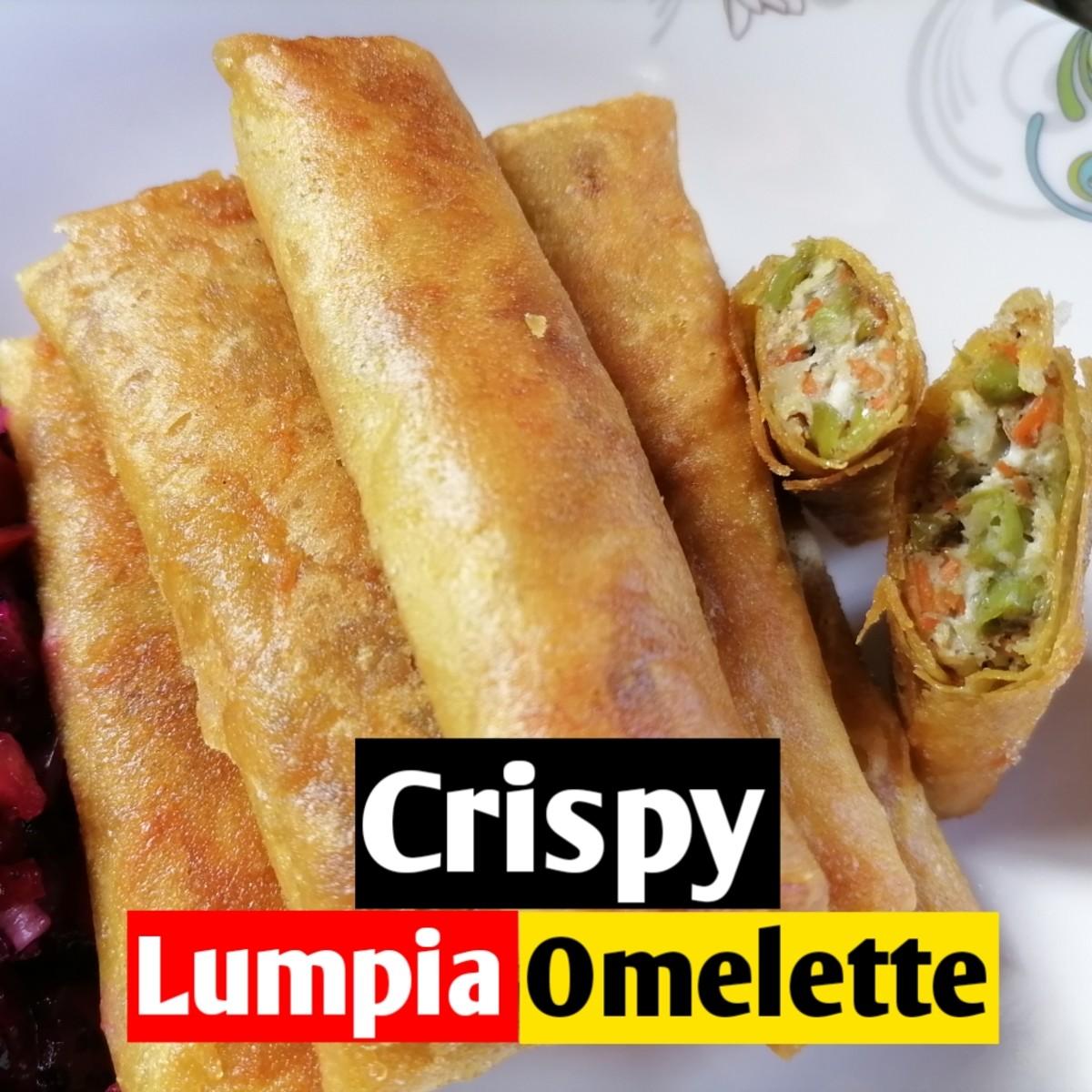 Crispy lumpia omelette