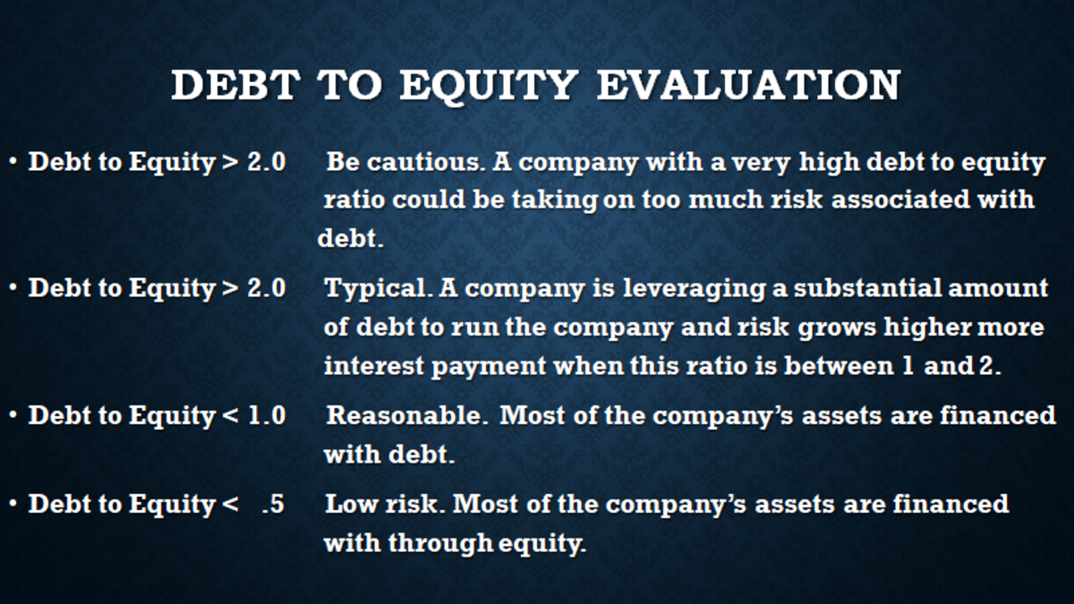 Using a calculated industry debt to equity ratio as a benchmark is a good way to see how a company is doing in relation to others in the same industry.