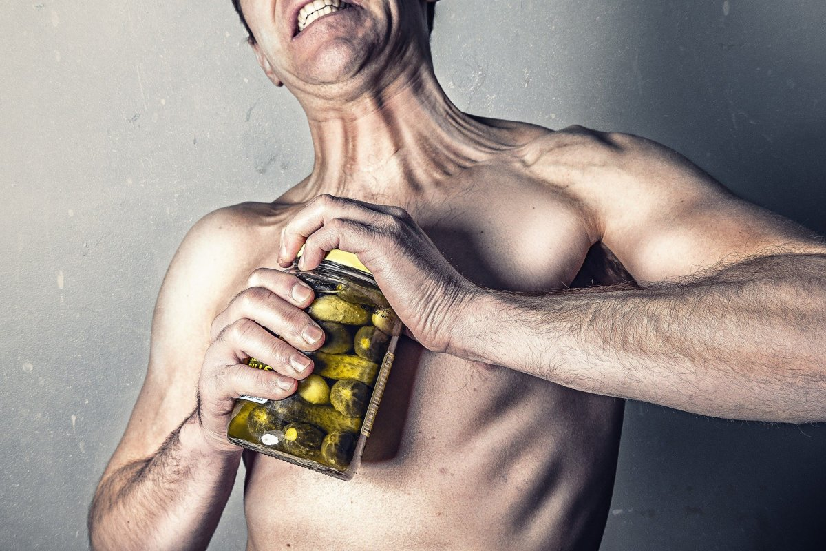 Working out your biceps makes opening a pickle jar much easier!