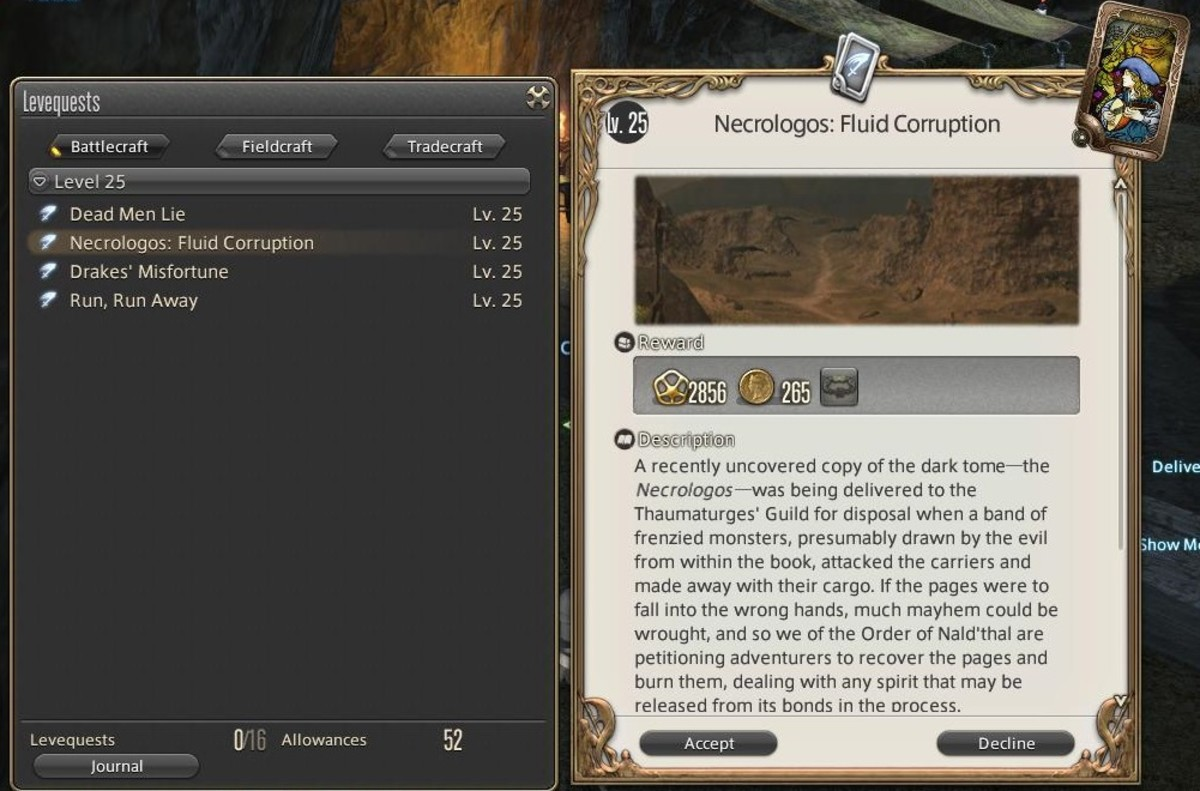 Levequests can offer a small money reward, but can also offer item rewards which can sell well on the market.