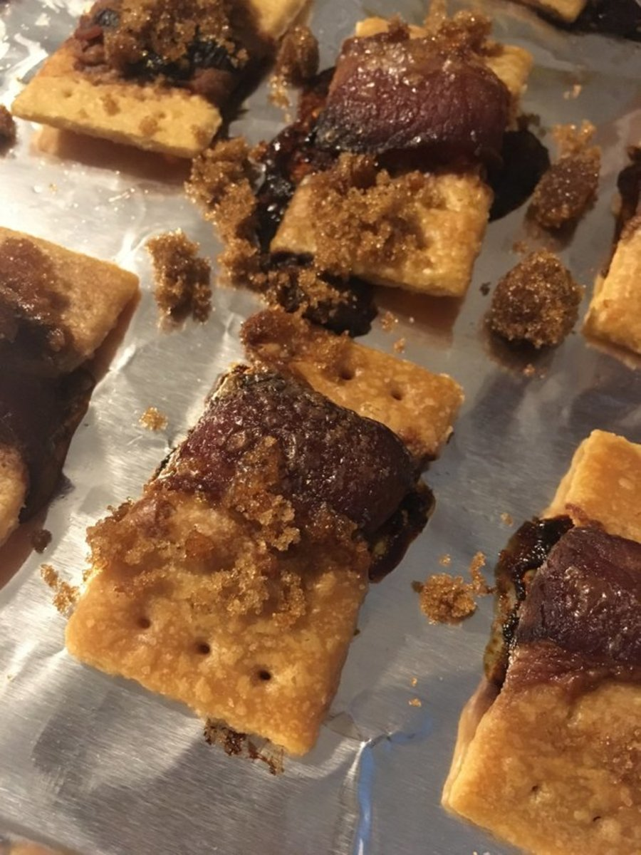 Candied Bacon Wrapped Crackers Recipe