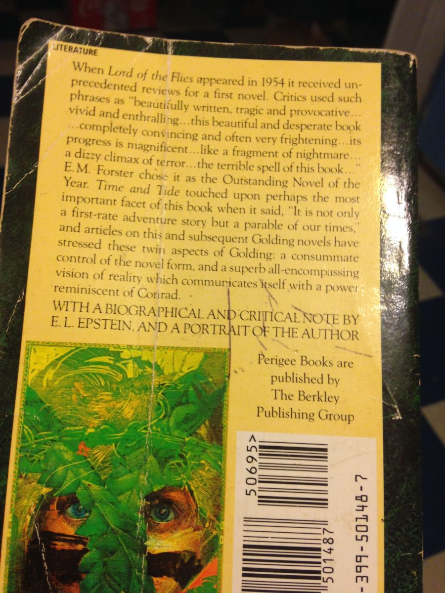Back cover of my copy of the book.