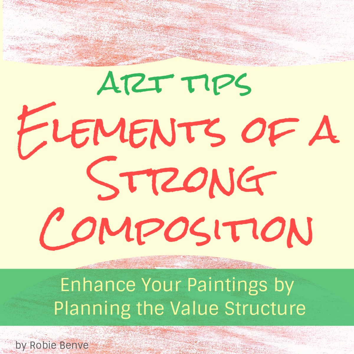 The way elements are arranged in the picture acts as the armature and supporting structure of a painting. To make a piece successful and interesting for the viewer, plan a composition with a strong value structure.