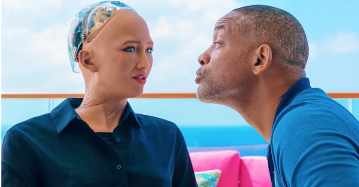 The A.I. Sophia can duplicate or mimic over 60 human emotions. However, she does not feel as humans feel.