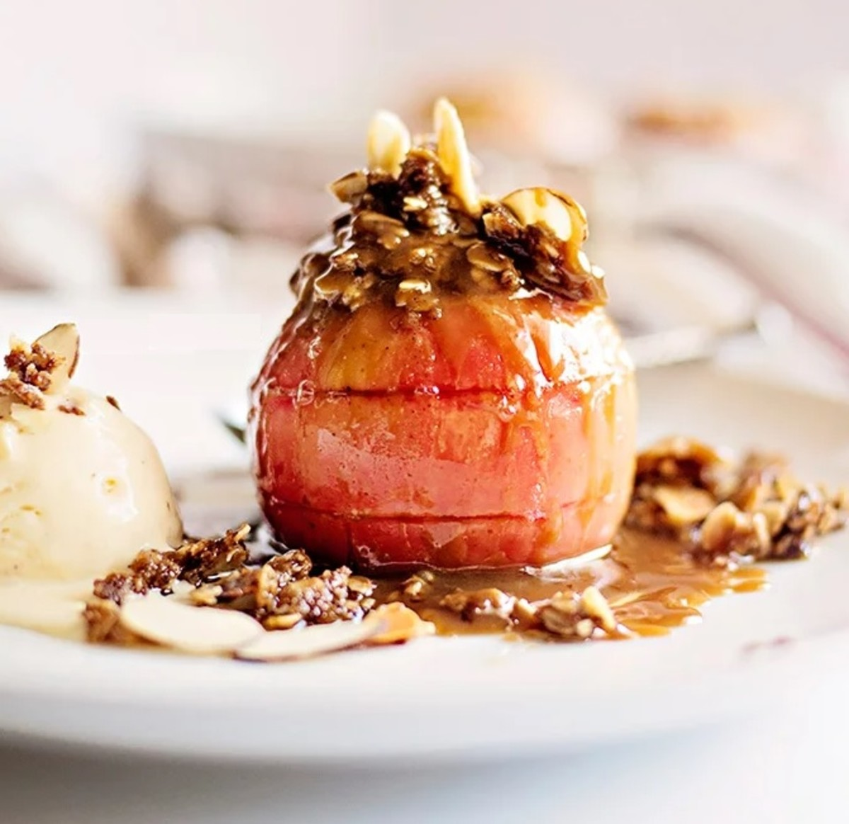 Easy apple crisp stuffed baked apples