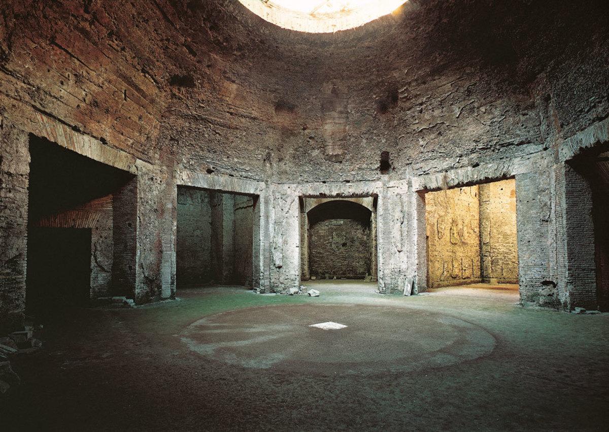 Vault with occulus at Domus Aurea