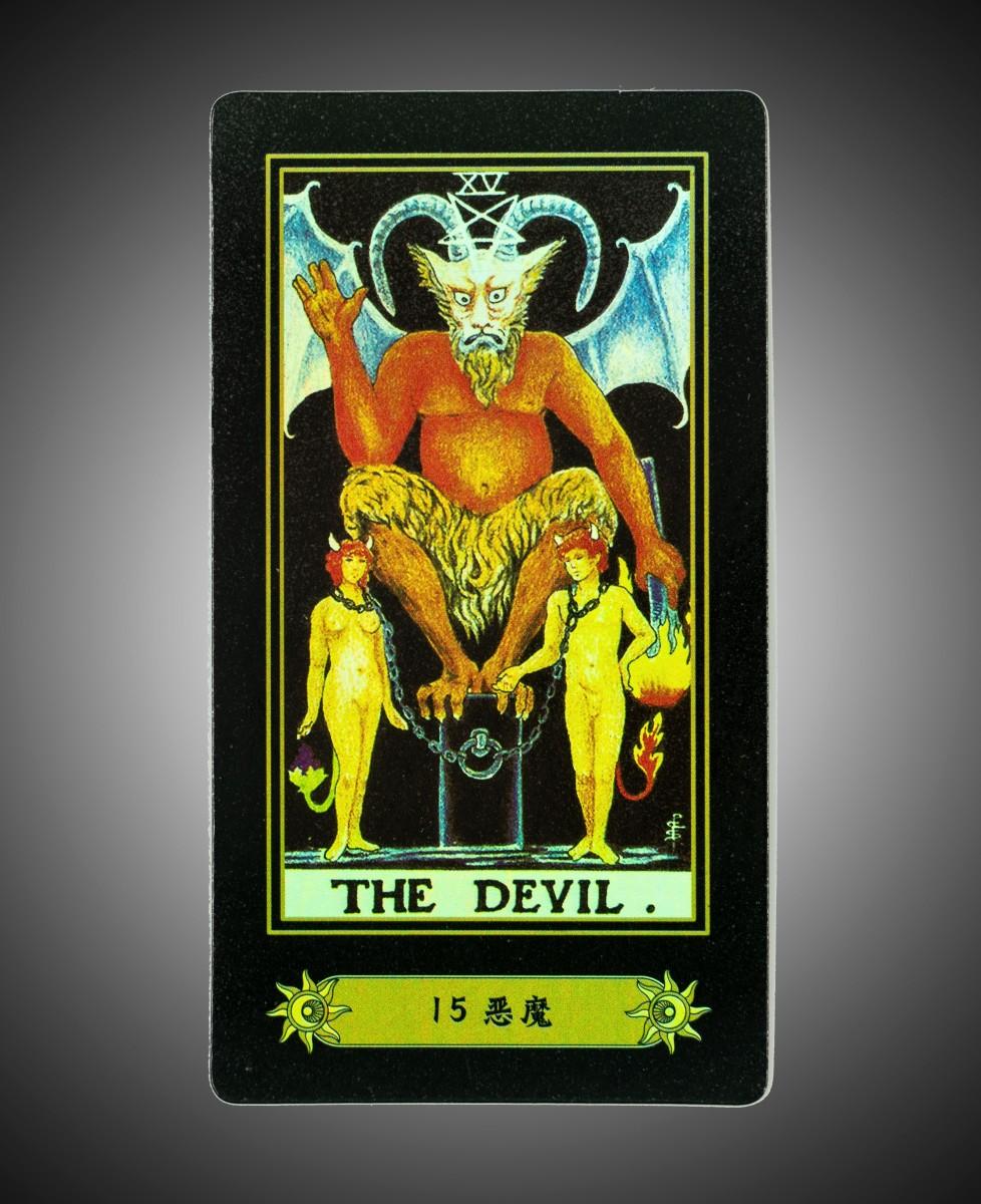 Archangel Uriel as the tarot Devil