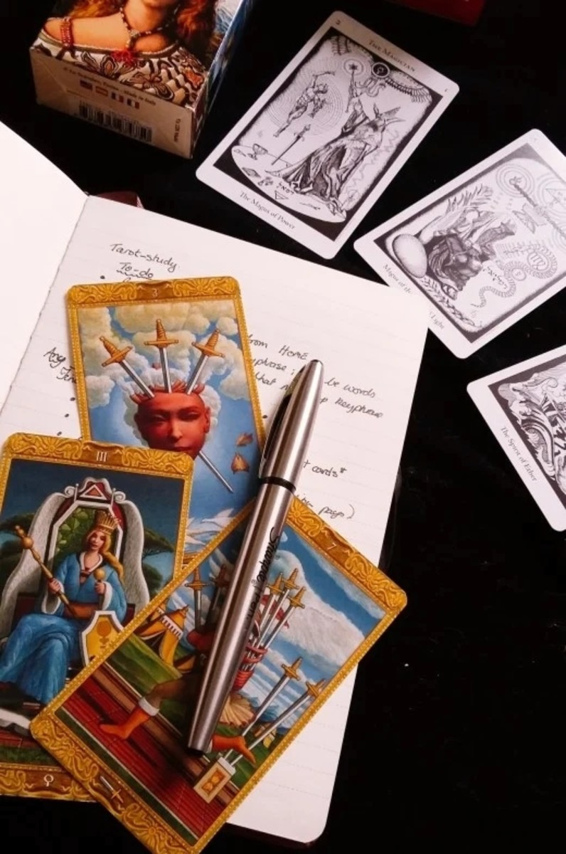 Other things you can do with tarot cards: Tarot journaling is both cathartic and educational.