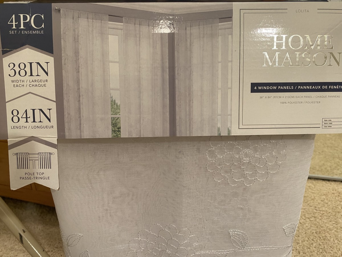 The purchased curtains.  I bought two sets.