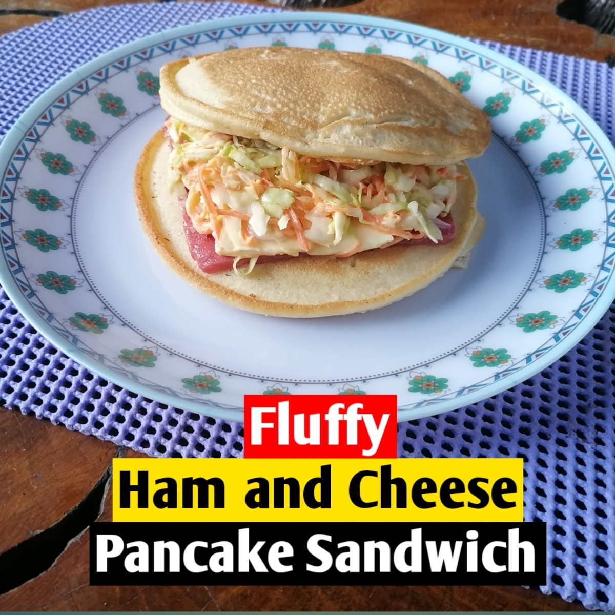 Why not combine breakfast pancakes and a ham and cheese sandwich?