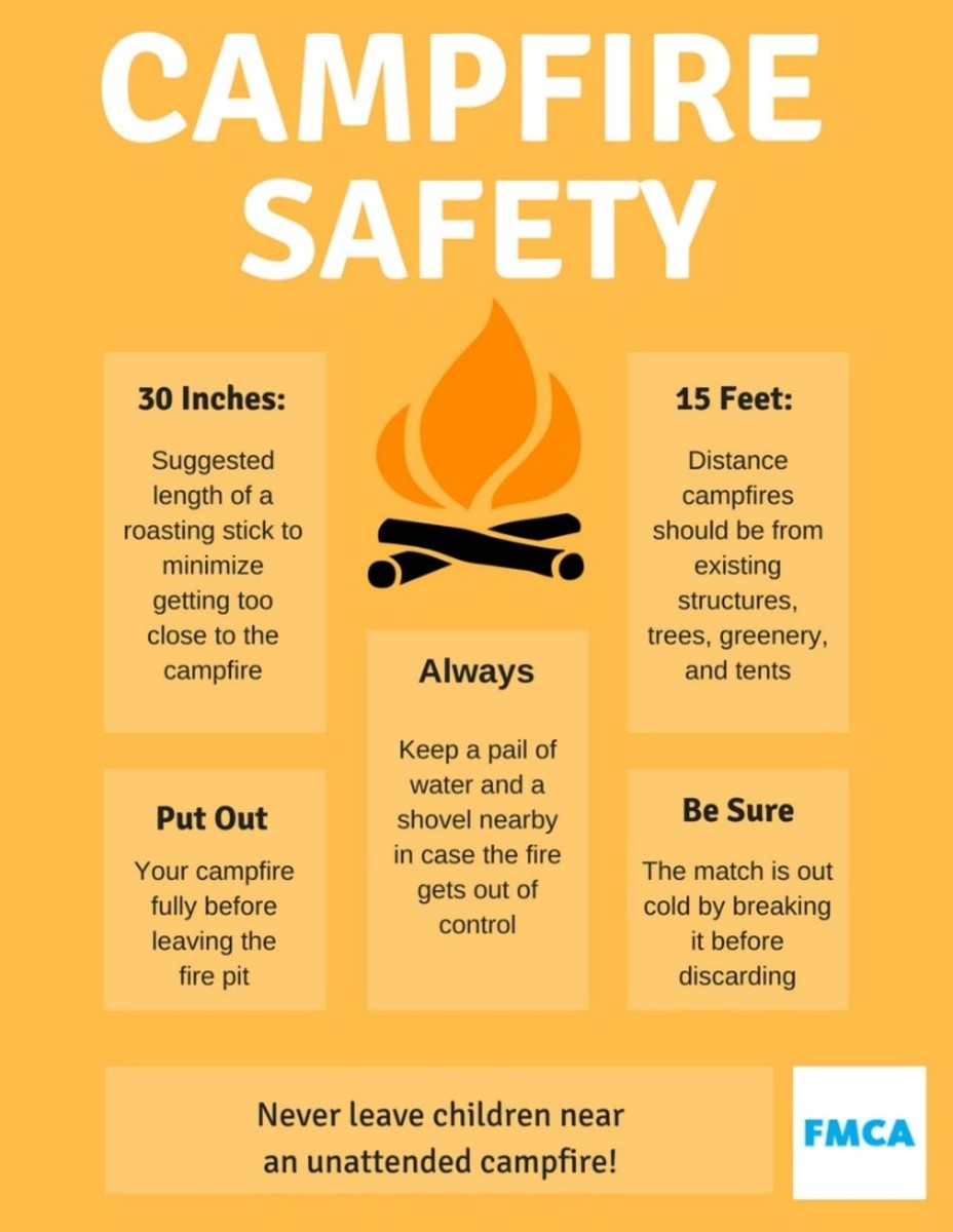 Observe campfire safety guidelines.
