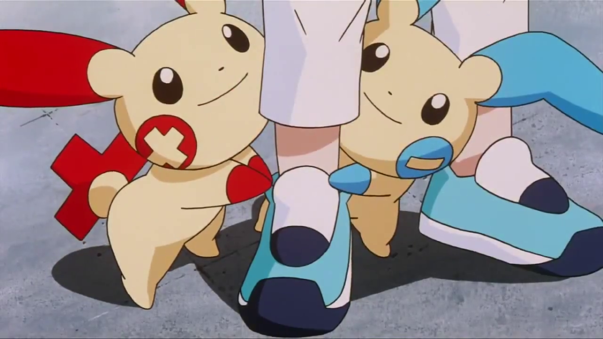 Plusle and Minun insist on latching on to this young kid who's seriously afraid of Pokémon in this movie.