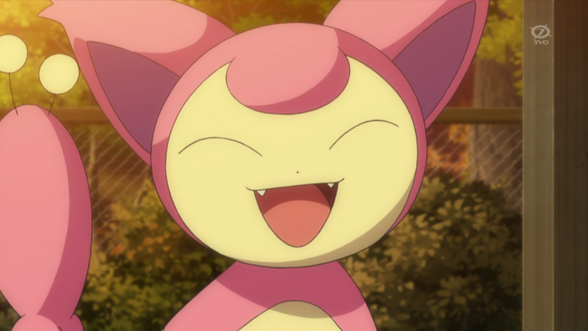 Skitty, as seen in the anime.