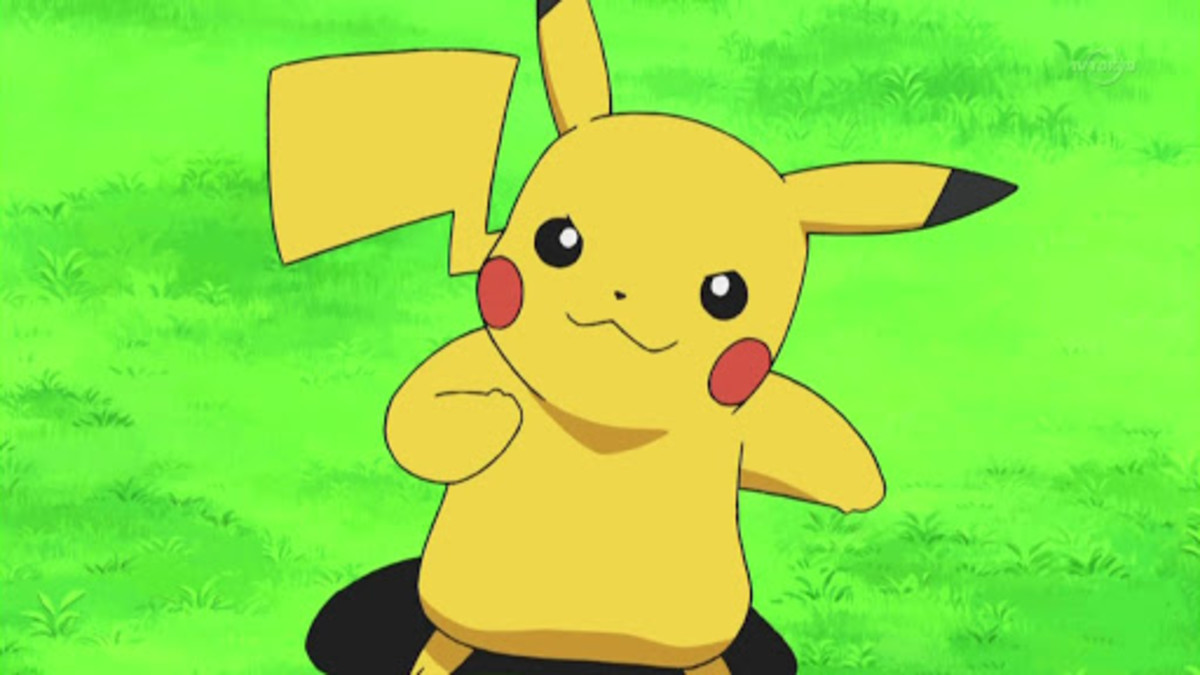 Pikachu in the anime.