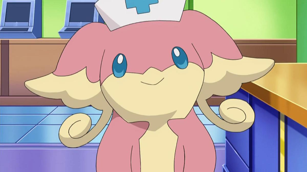 "An Audino belonging to Nurse Joy in ""Pokémon Black & White"""