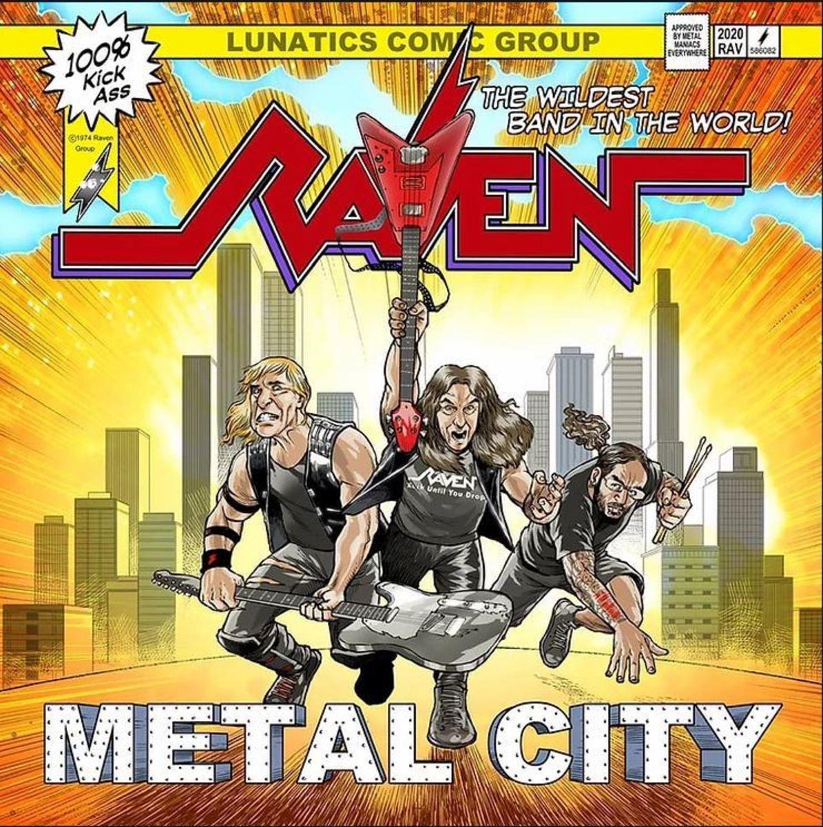 "Raven ""Metal City"" CD Cover"
