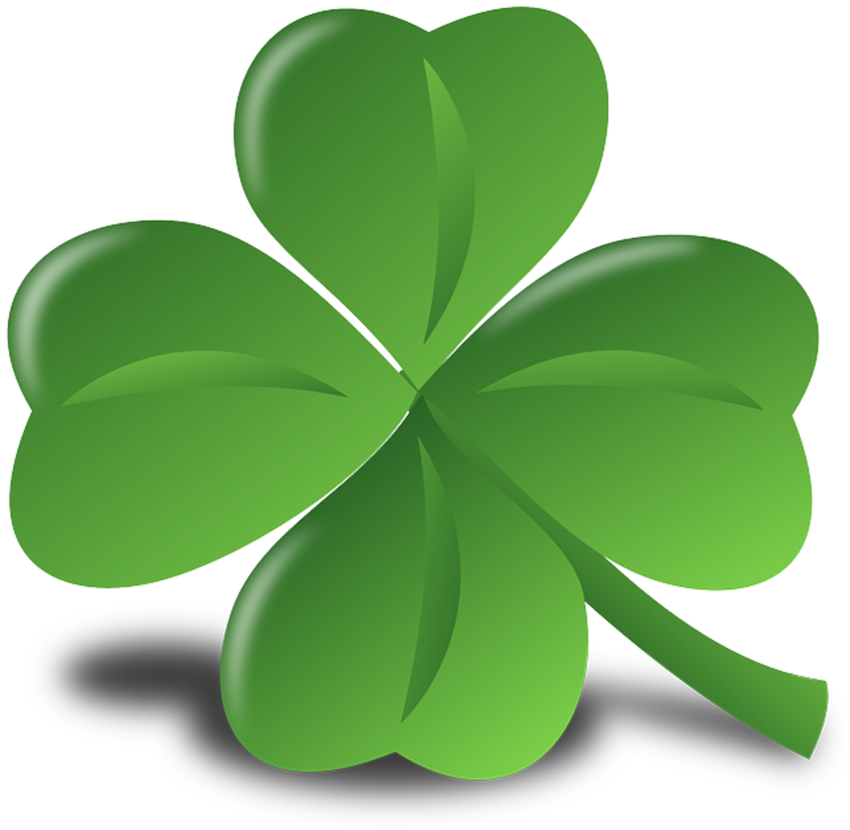 Four-leaf clover. A symbol of good luck.