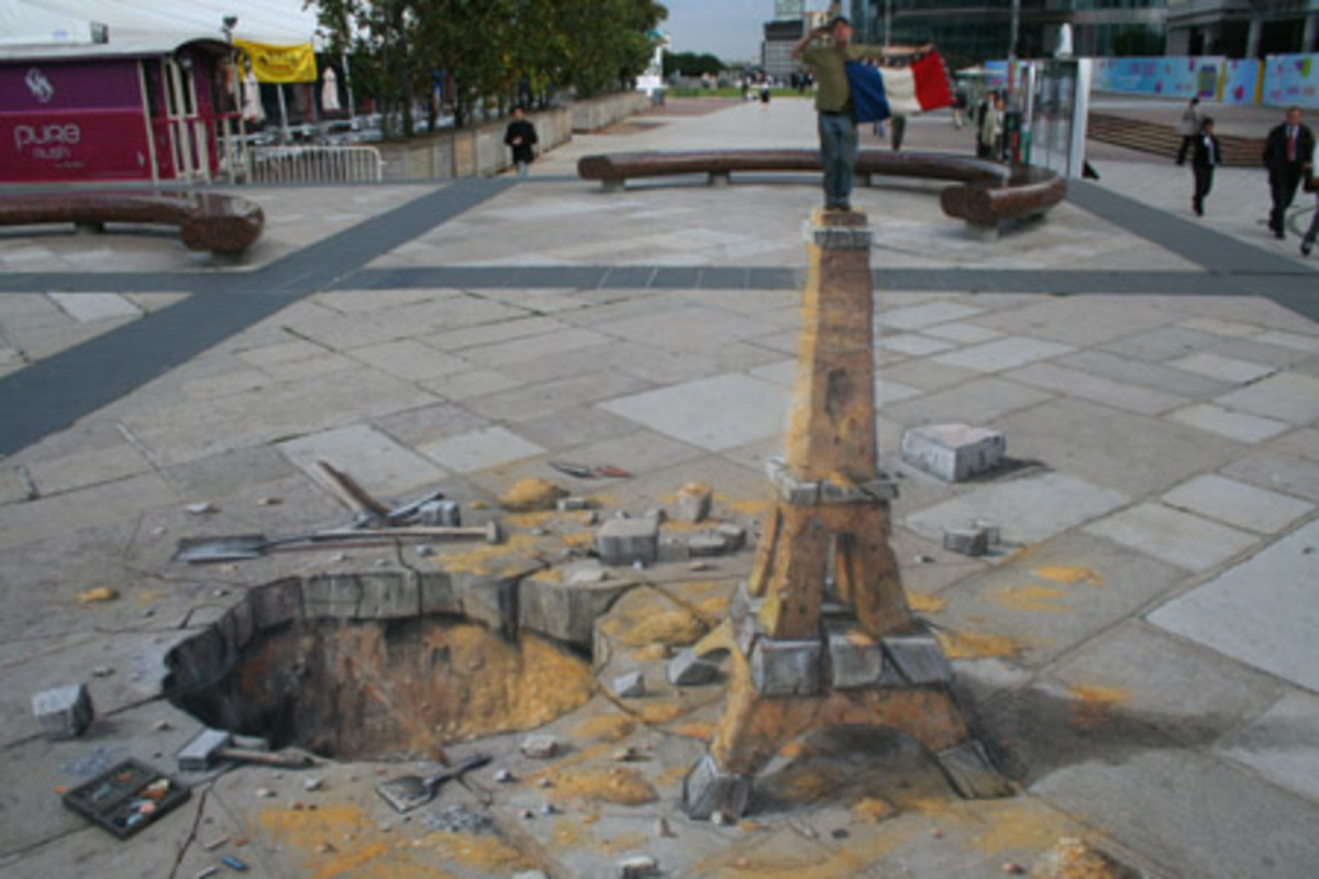 Eiffel Tower. This drawing in Paris was the subject of Episode 8 of the Gallery HD television series  Concrete Canvas shown in the USA.