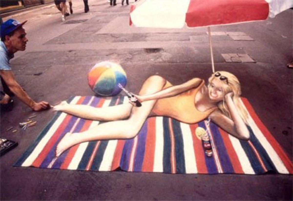 Girl On Beach Mat
