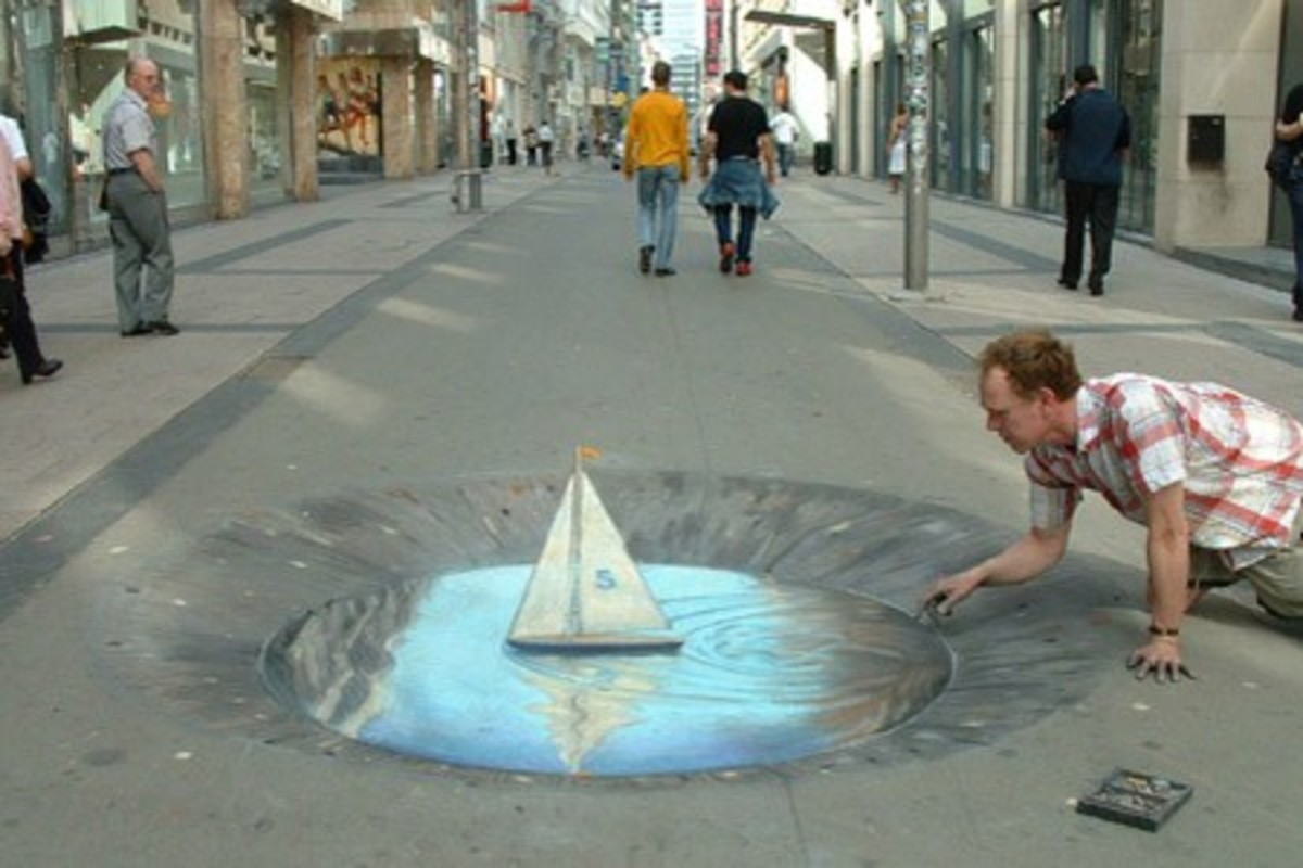"People are actually avoiding walking in the ""hole"""
