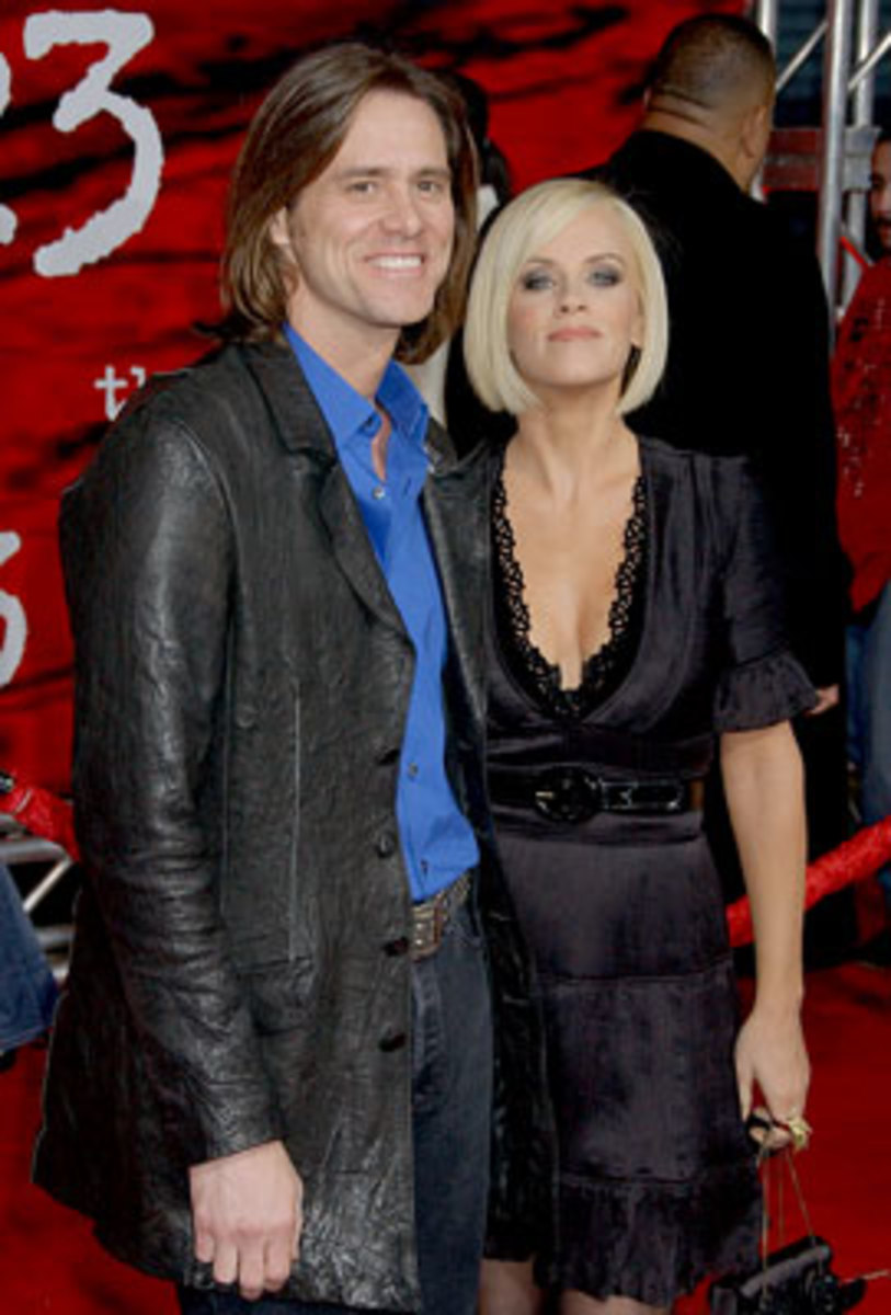 Jenny with Jim Carrey