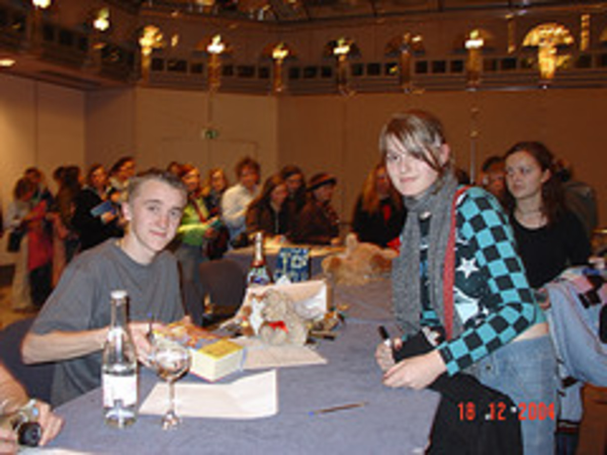 Tom Felton AKA Draco at Autograph Signing of Harry Potter and the Order of the Phoenix
