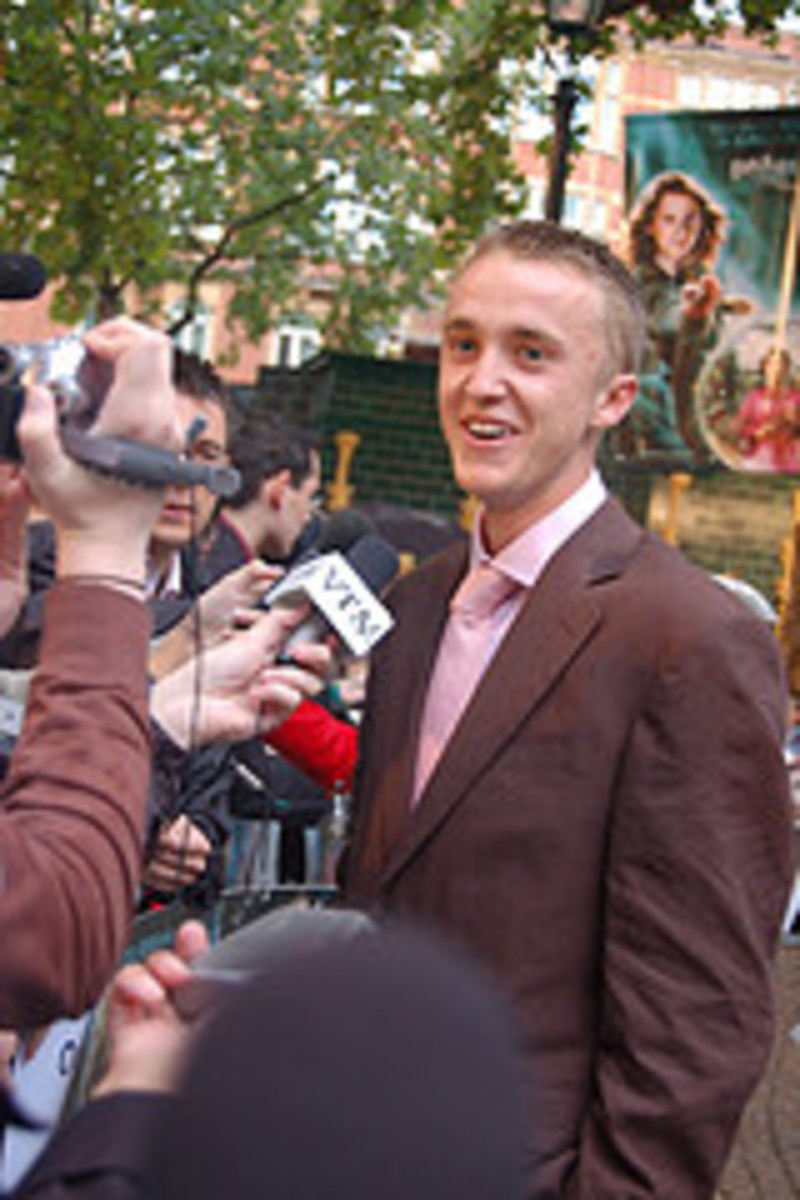 Tom Felton at Harry Potter and the Order of the Phoenix Movie Premiere