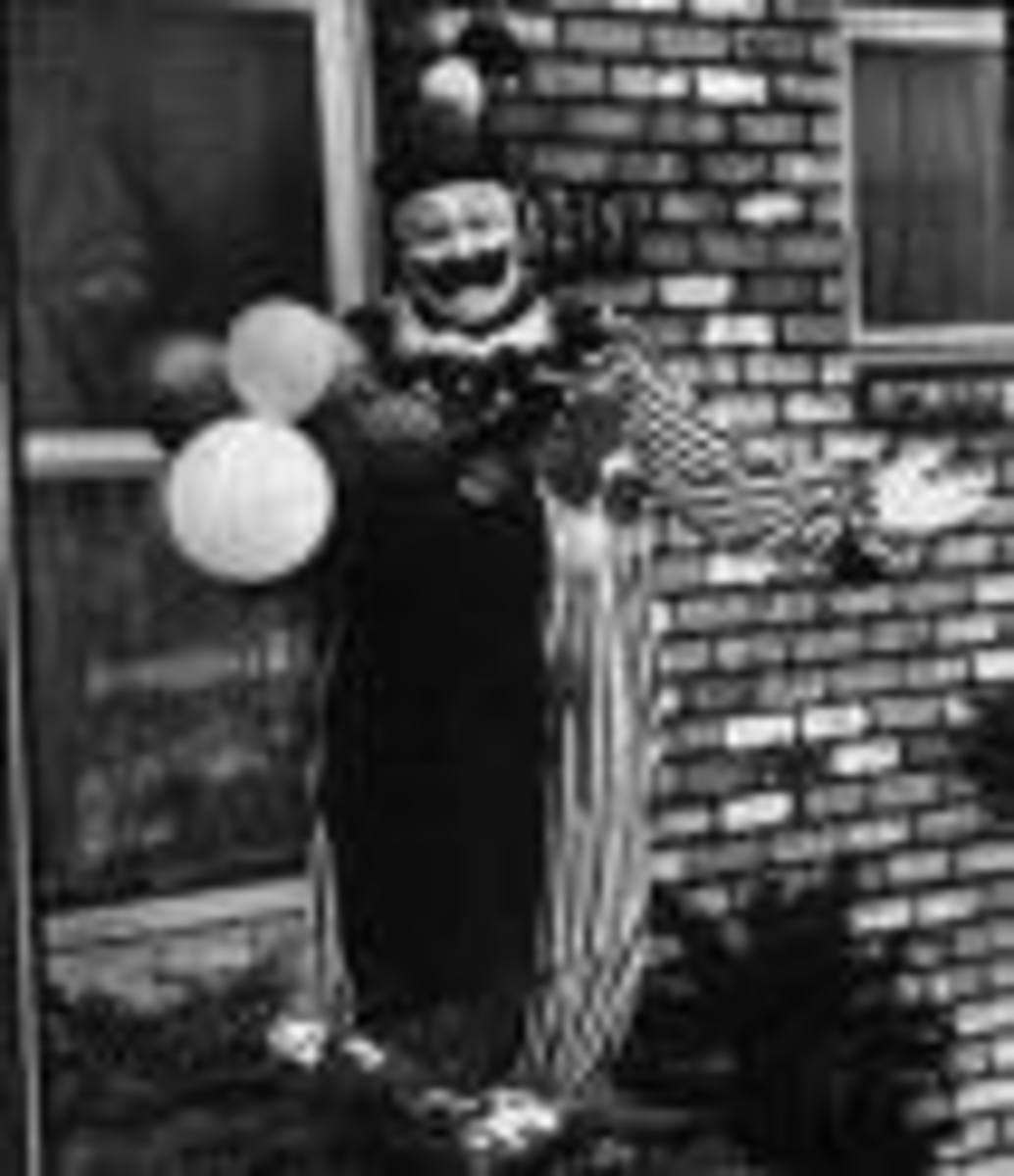 John Wayne Gacy Dressed As A Clown