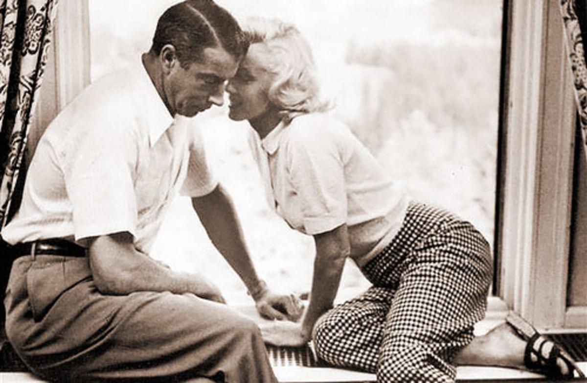With Joe diMaggio