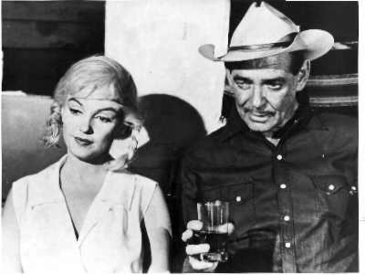 With Clark Gable in The Misfits